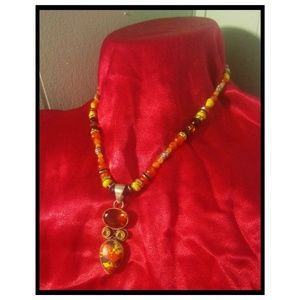 Citrine Topaz Jasper Necklace